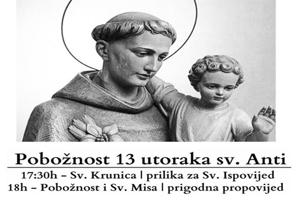 Pobožnost trinaest utoraka sv. Anti na Humcu