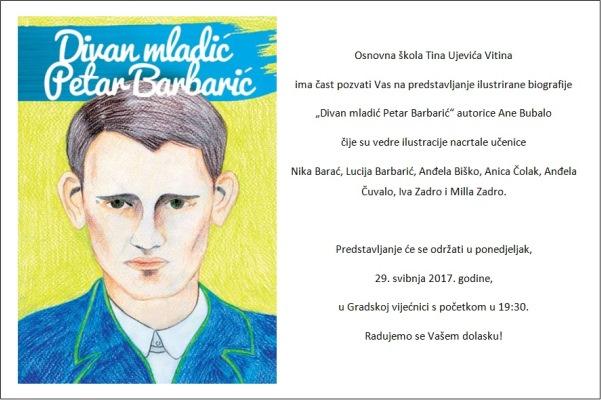 """NAJAVA: Predstavljanje ilustrirane biografije """"Divan mladić Petar Barbarić"""""""