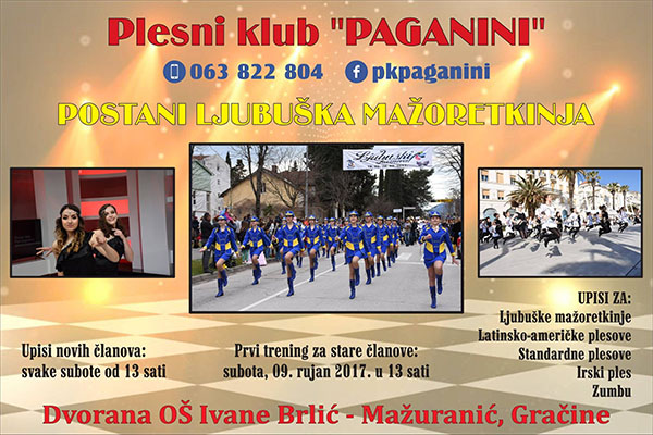 Plesni klub Paganini poziva polaznike na upise