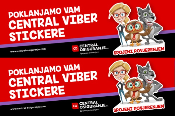 Zabavnija komunikacija uz stickere Central osiguranja!