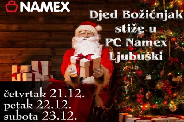 Djed Božićnjak stiže u PC Namex Ljubuški