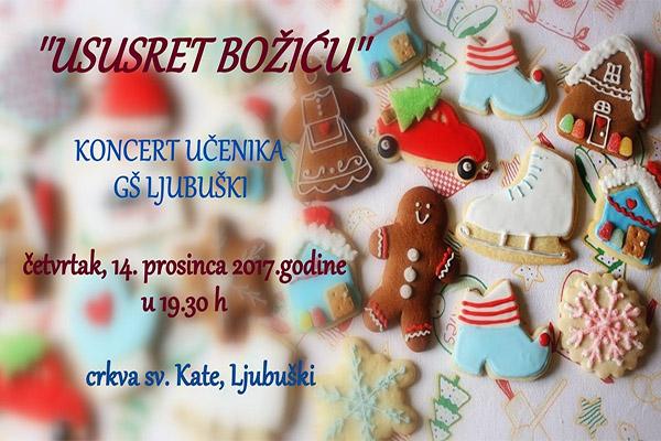 """NAJAVA: Koncert učenika Osnovne Glazbene škole Ljubuški """"Ususret Božiću"""""""