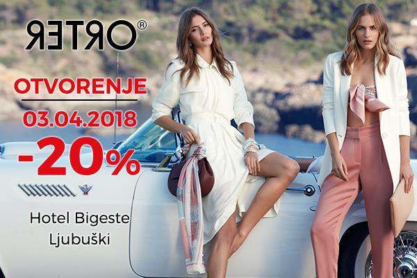 Od danas RETRO u Ljubuškom povodom otvaranja kupcima -20%